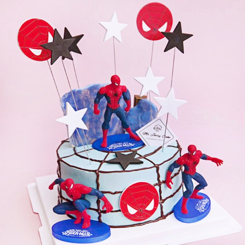 Pleasant Spiderman Cake Toppers Avengers Star Toppers For Boy Birthday Cake Funny Birthday Cards Online Elaedamsfinfo