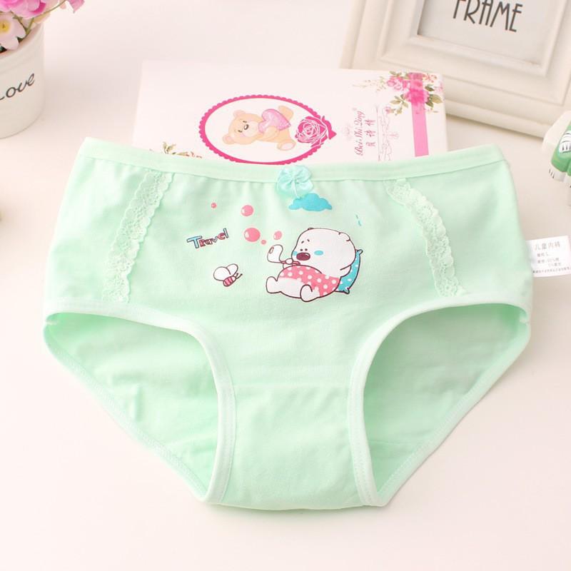 4Pcs Cherry Fruit Womens Underwear Cotton Teenage Girls Panties Bowknot Briefs