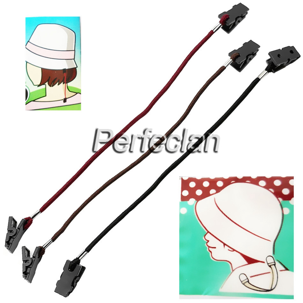 Fishing Hats Retainer Windproof Cap Clips Portable Chain Holders Cord Straps