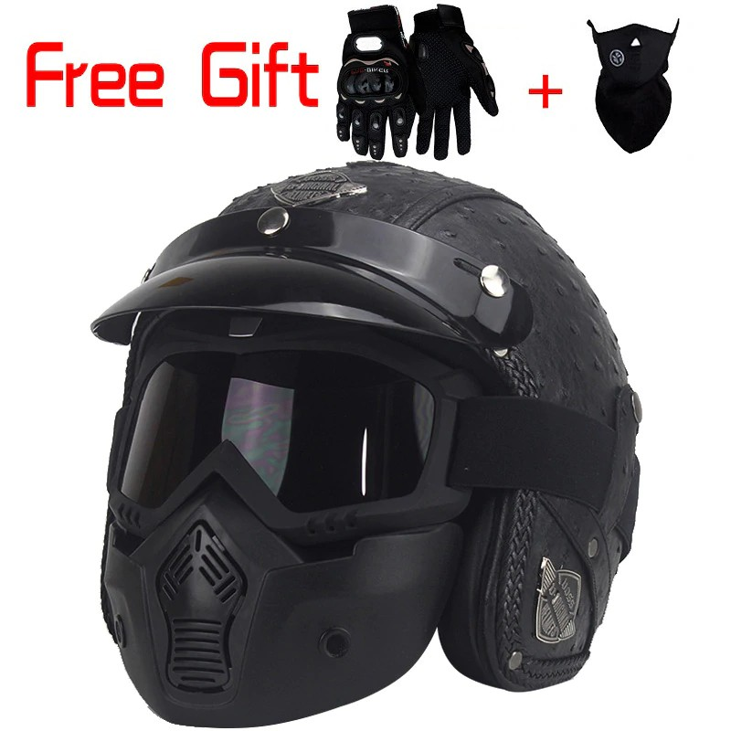 c6268ec7 2 Retractable Visors GLX Cruiser Scooter Motorcycle Half Helmet DOT Approved  Matte Black, Medium