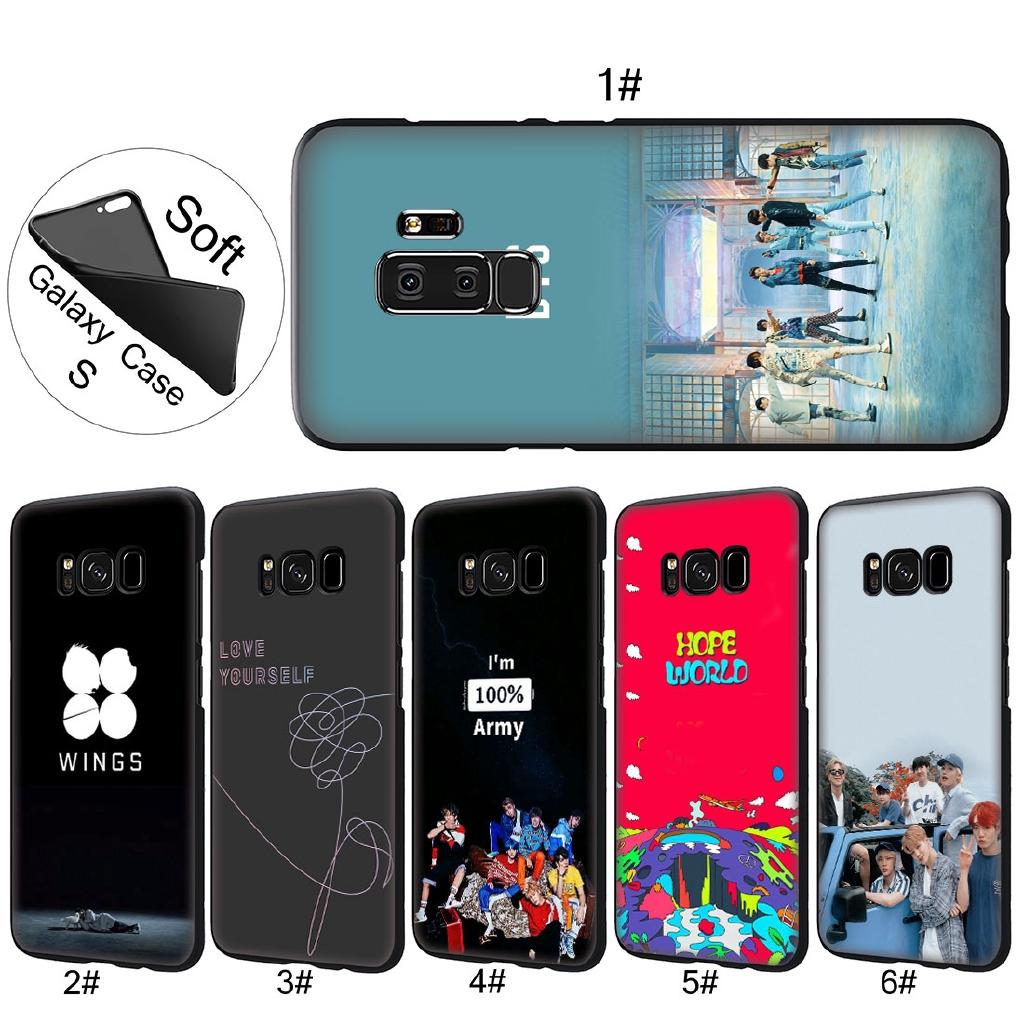Samsung Galaxy S8 S9 Plus S7 Note 9 8 Bangtan Boys V Bts Soft Tpu