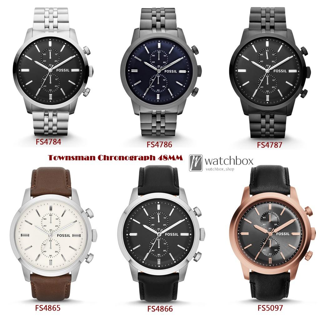 Original Fossil Watch Townsman Chronograph Men 48mm Fs5182 Set