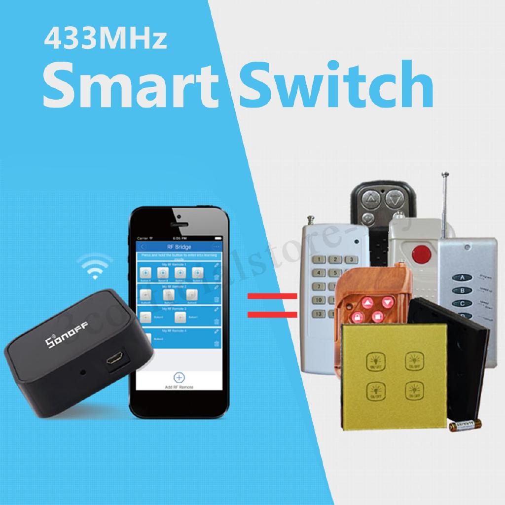 Sonoff RF Bridge 433 433mhz Wifi Remote Smart Switch DIY
