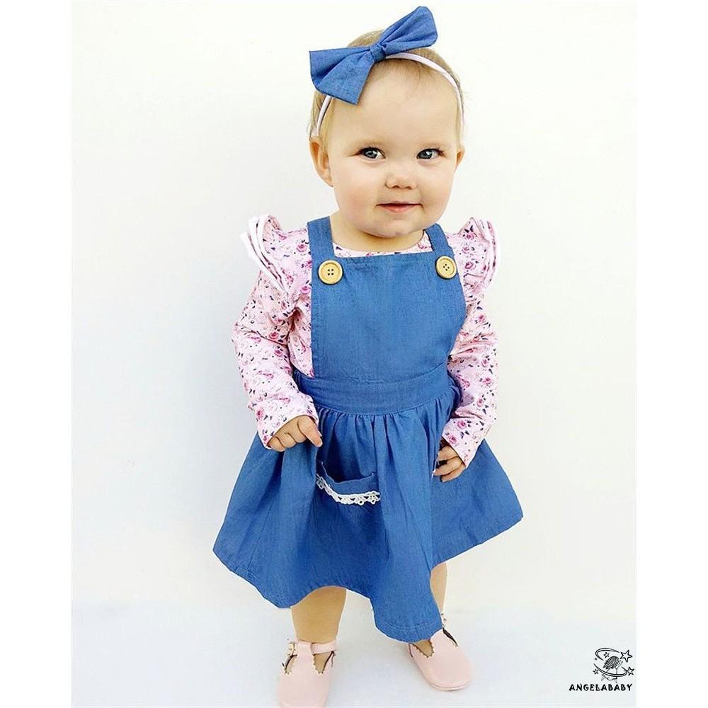 Baby Newborn Girl Kids Princess Dress Lace Pageant Party Dress Headband Set AB