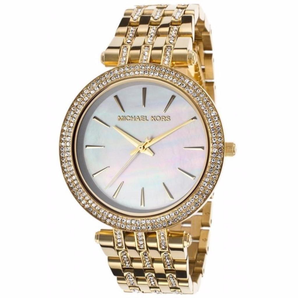 01570b83f841 Original MK Michael Kors MK3356 Ladies Rose Gold Black Dial Catlin Watch