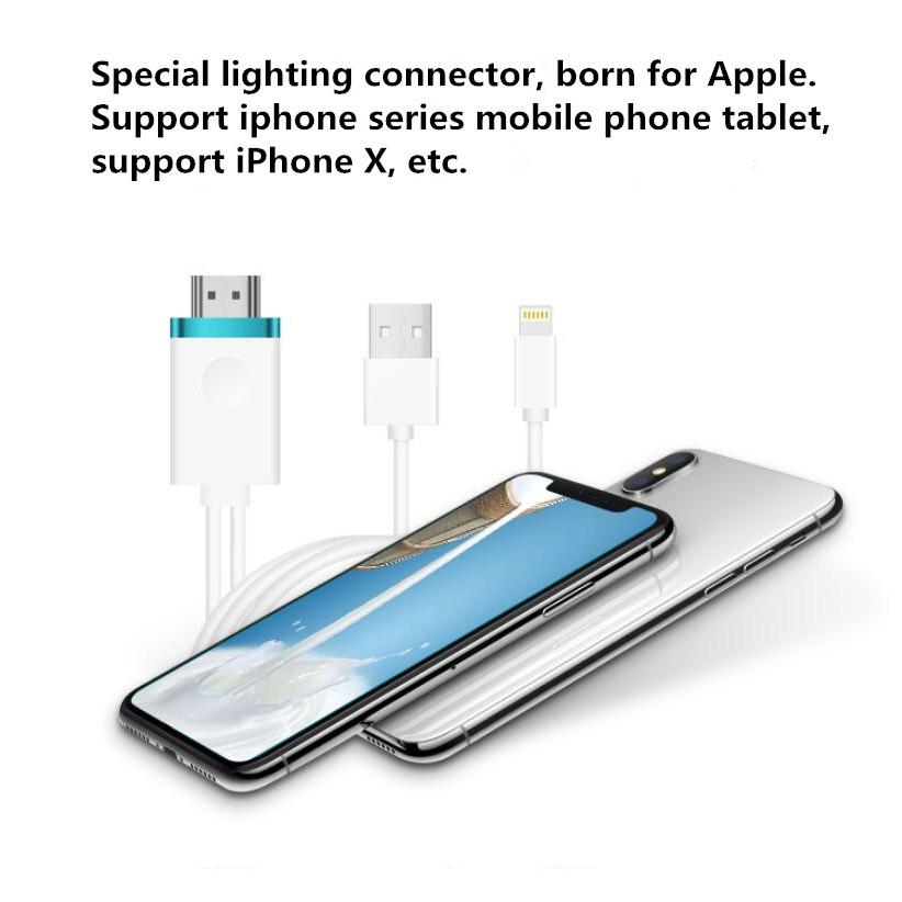 Cable MHL a HDMI Adaptador 1080P HDTV para iPhone 6s//6lus 7plus 8pl Smartphone