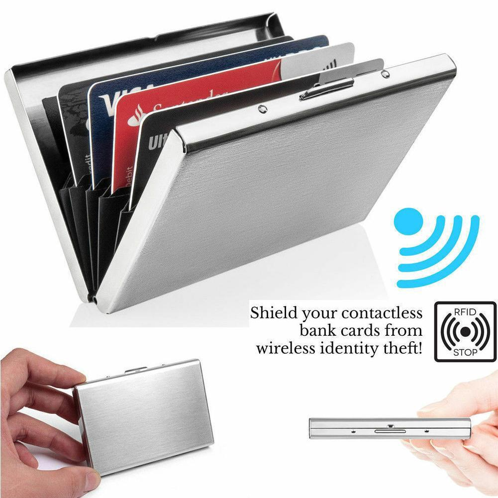 Alloy Case Box Business ID Name Credit Card Holder Cover*Namecard Cardcase B$CA
