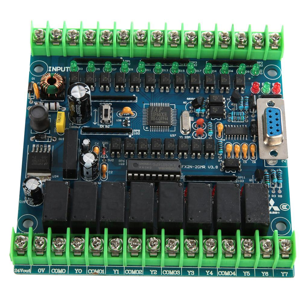FX1N-20MR Industrial Programmable Control Board 12 Input 8 Output 24V 5A