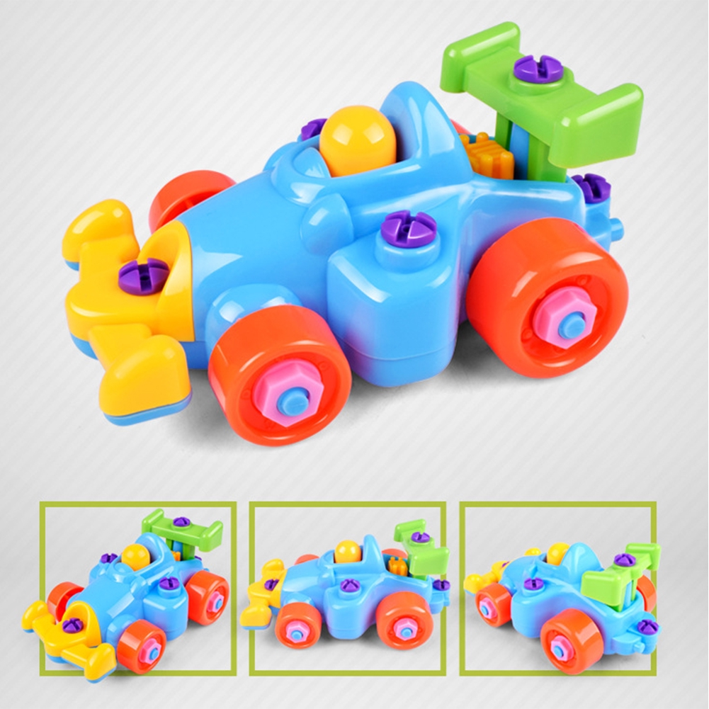 Children Baby DIY Disassembly Train Aircraft Car Screwdriver Educational Toys