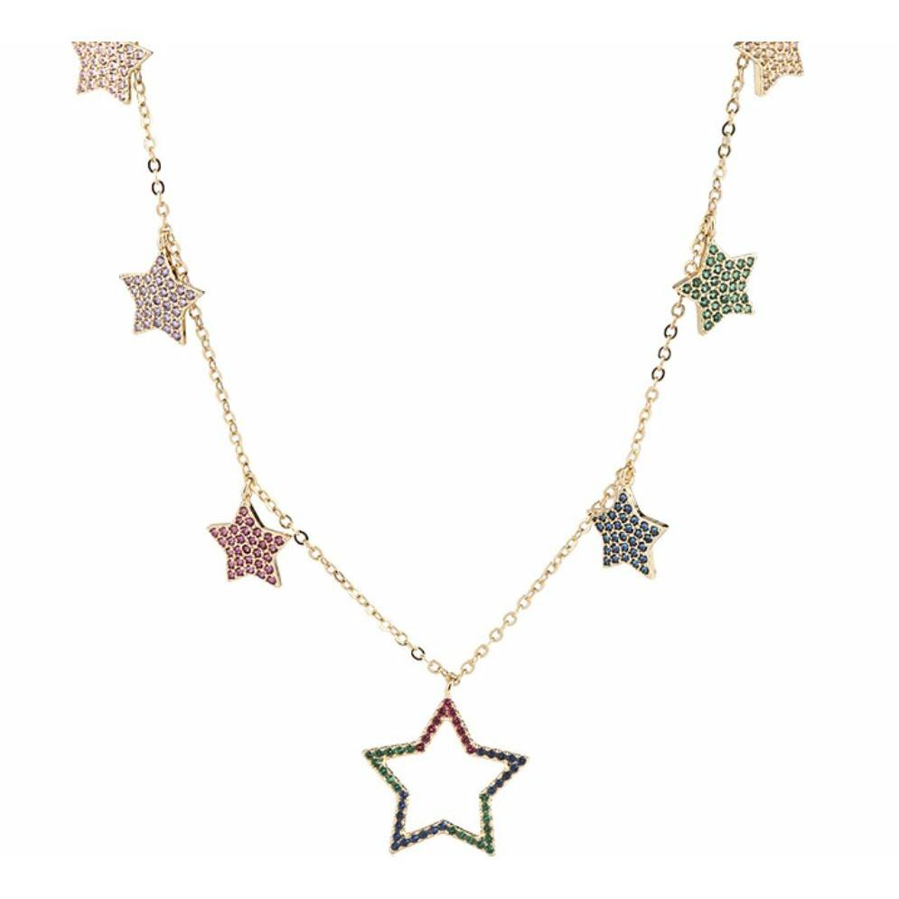 Gold Color Star Pendant Necklaces