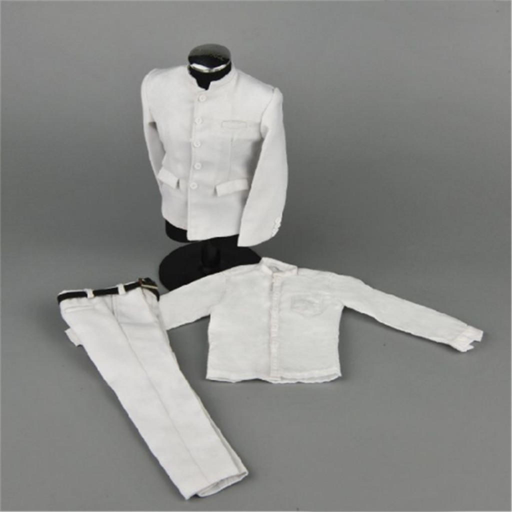 "1//6 Male Clothing Model White Suit Set ZYTOYS Costume for 12/"" Action Figure Body"