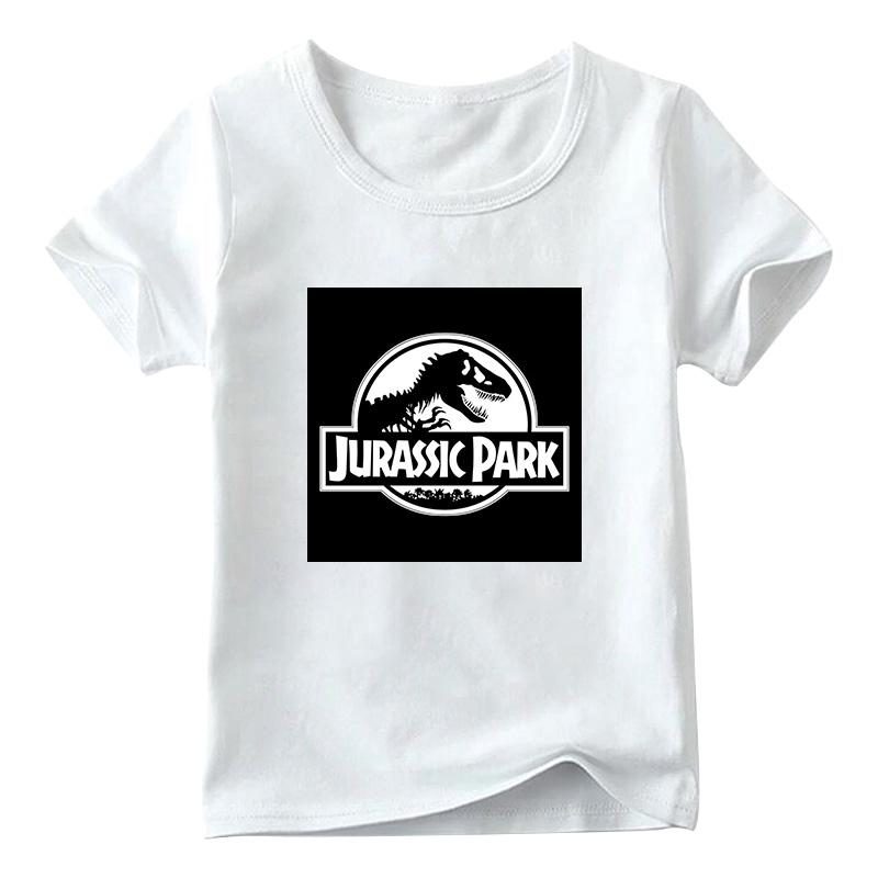2020 New Jurassic Park Print T Shirt Cartoon Boy And Girl Shirts