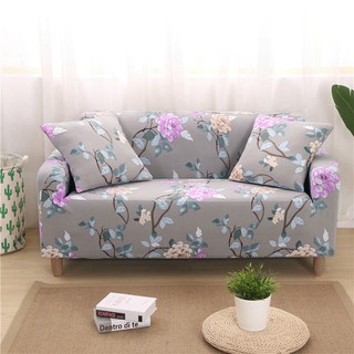 Grey Flowers Elastic Couch/Corner Sofa Covers For Living Room 1/2/3/4 Seat  Size