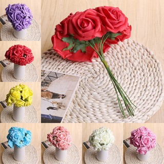 10pcs foam artificial rose flowers wedding bride bouquet party decor 10pcs foam artificial rose flowers wedding bride bouquet party decor diy shopee singapore junglespirit Images