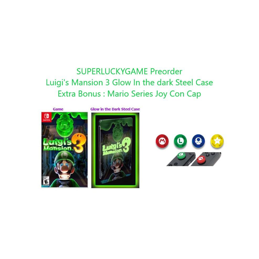 Nintendo Switch Luigi S Mansion 3 Glow In The Dark Steel Case Preorder