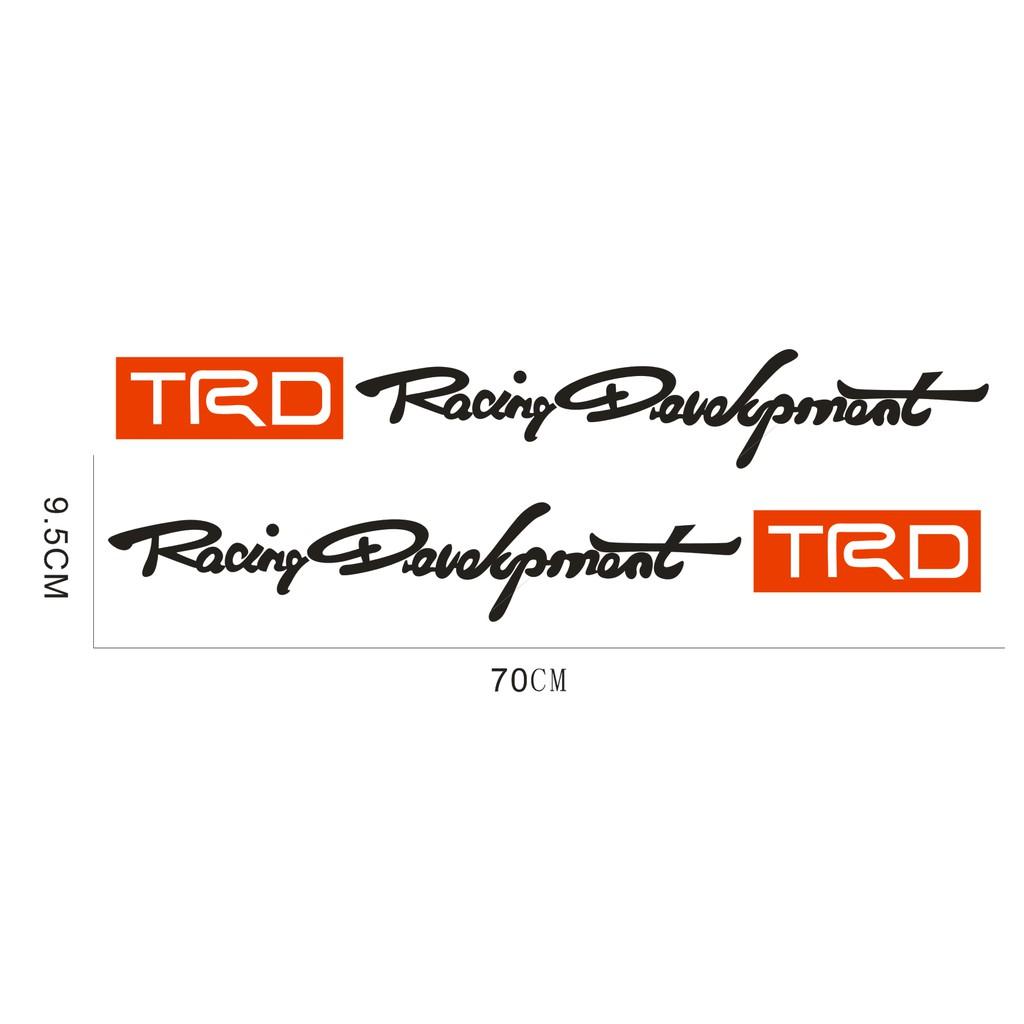 2pcs Trd Car Toyota Racing Development Sticker Decals Shopee Singapore