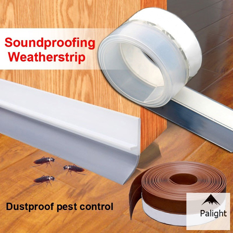 2 Pack Strong Adhesive Under Door Seal Strip Insulation Draft Stopper Noise Dustproof Soundproof Door Bottom Seal Strip Weather Stripping for Doors Door Strip Door Draft Stopper
