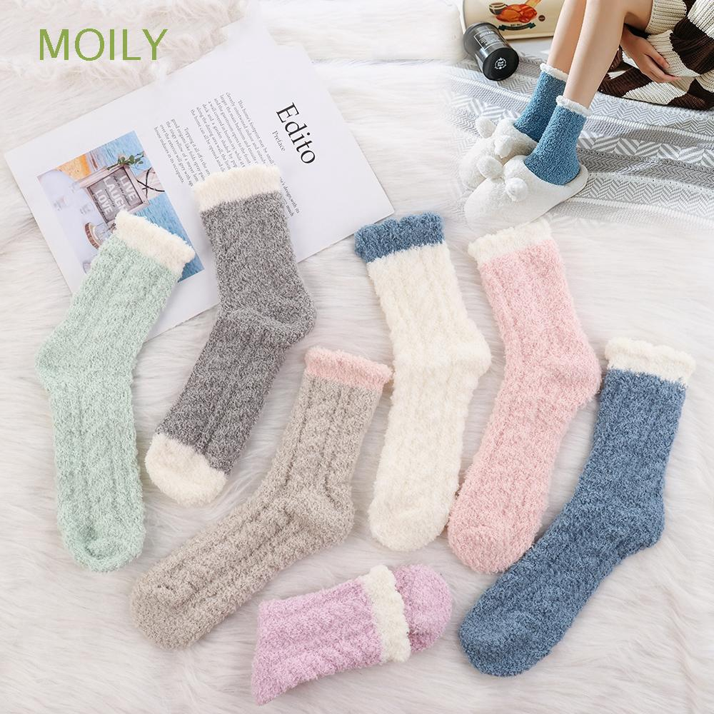3 Pairs Womens Fluffy Slipper Bed Socks Warm Thermal Socks for Christmas Birthday Party Holiday Gifts