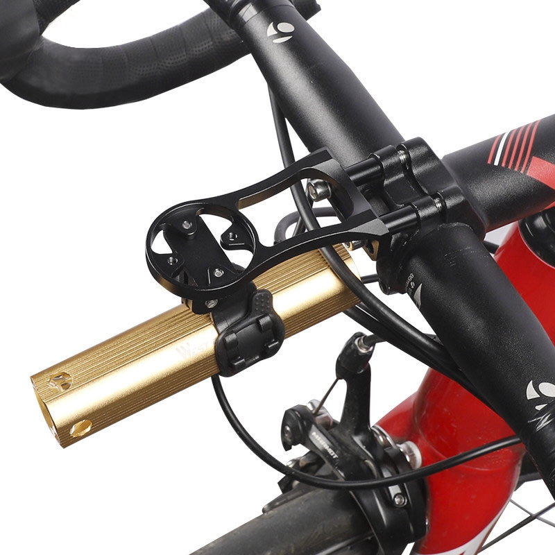 Bike Handlebar Camera Mount Stand Stopwatch Bracket Flashlight Holder For GOPRO