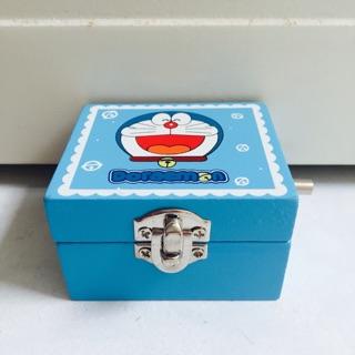 Doraemon Wooden Lockable Musical Box With Mirror