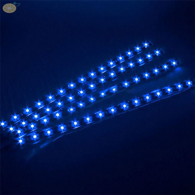 12V White 15LED 30cm Car Grille Flexible Light Strip Atmosphere Floor Lamp SMD