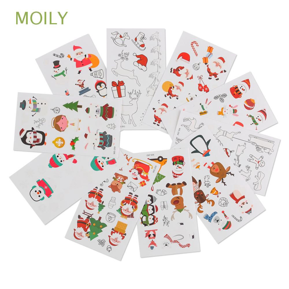 Moily 1pc Year Party Party Decoration Body Art Snowflake Christmas Tattoo Stickers Shopee Singapore