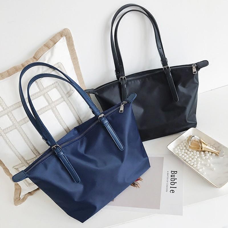 Korea new large capacity simple cloth bag thick canvas shoulder bag    Shopee Singapore 1fe6419805