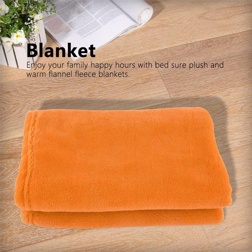 50*70cm Colorful Flexible Faux Fur Throw Polyester Blanket Single Sofa Bed IUN