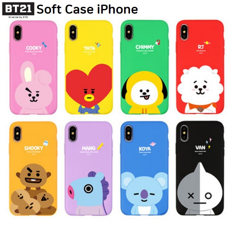 sale retailer ac8c3 bbb5d BTS BT21 Soft Case iPhone Line Friends Official Product(for all kinds of  iphone)