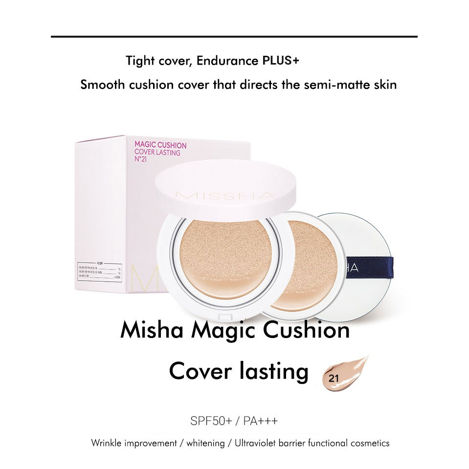45beauty Missha Magic Cushion Cover Lasting Spf50 Pa Refill Included
