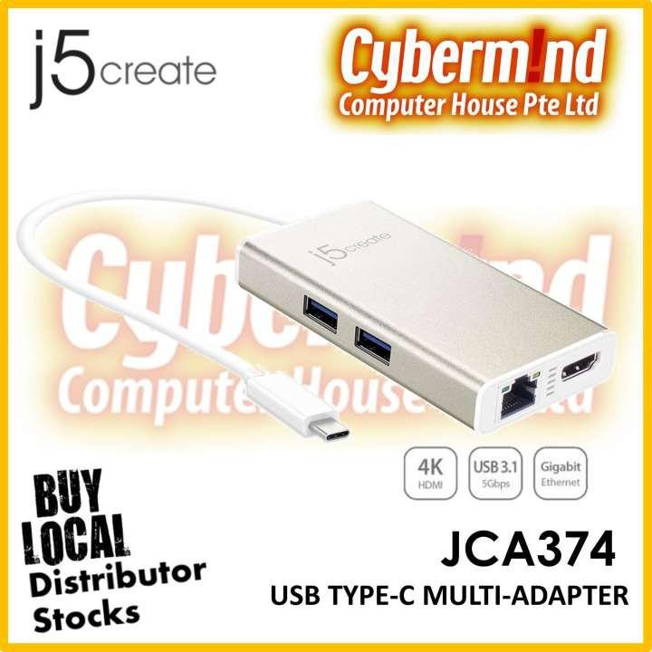 J5create JCA374 USB Type-C Multi-Adapter HDMI & Gigabit Ethernet & USB3 0