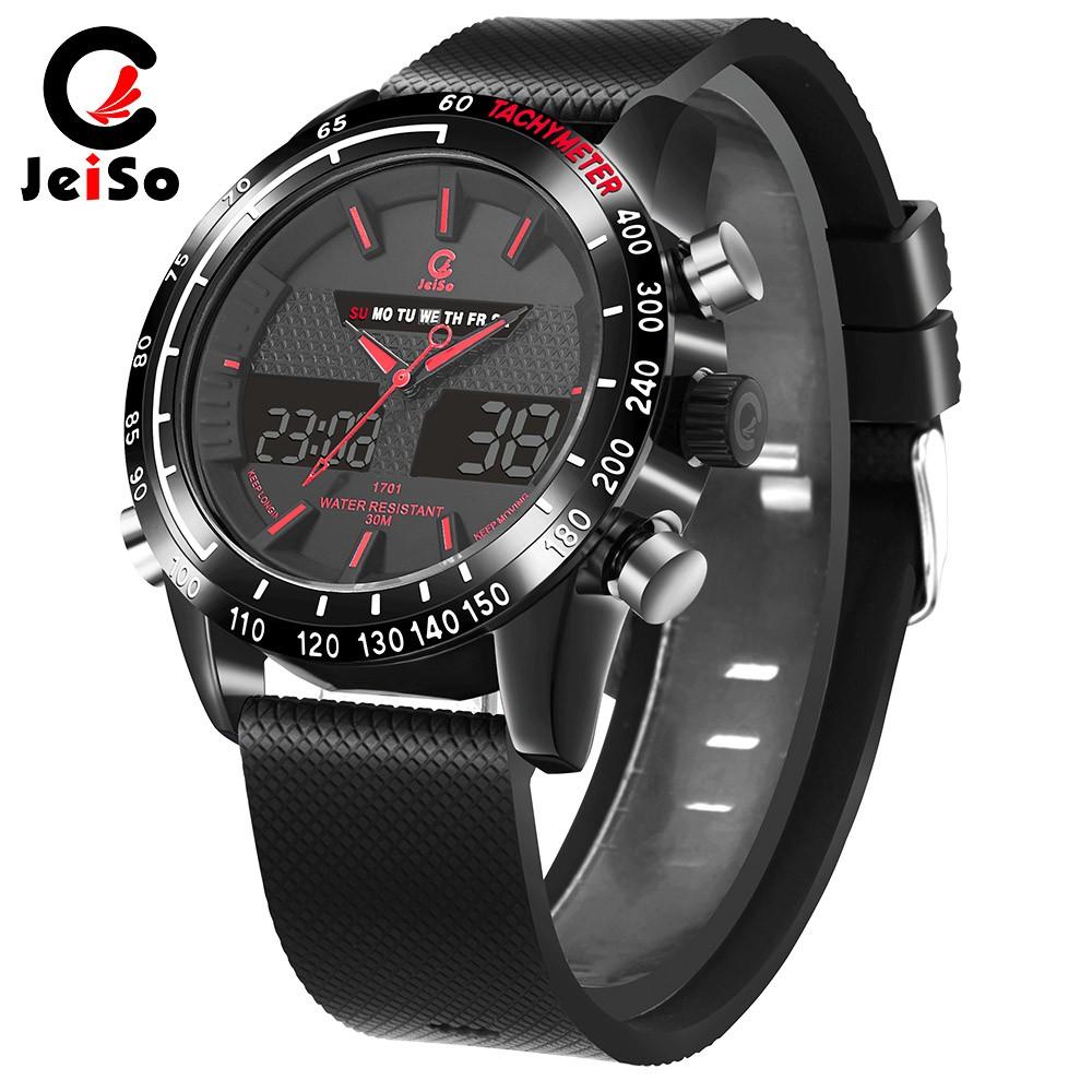 Military Sport Watch Men PU Leather Waterproof Smart Watch