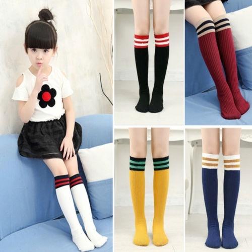 Baby Kids Toddlers Girls Knee High Socks Tights Leg Warmer Stockings 0-4 Years#