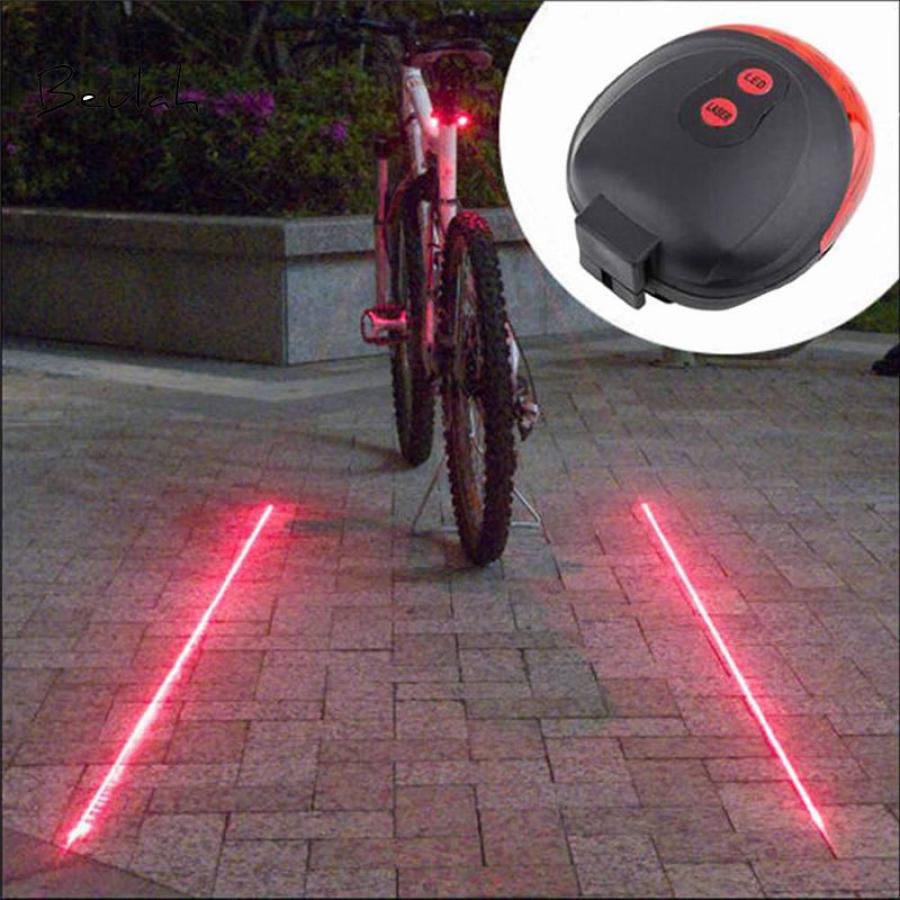 5 LED+Laser Rear Cycling Bicycle Bike Tail Safety Warning Flashing Lamp Light CZ