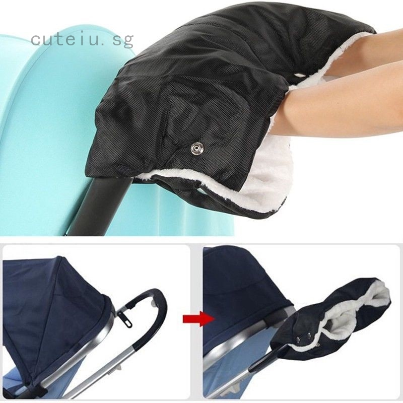 Winter Baby Pram Stroller Hand Muff Waterproof Fingerless Gloves Warmer UK