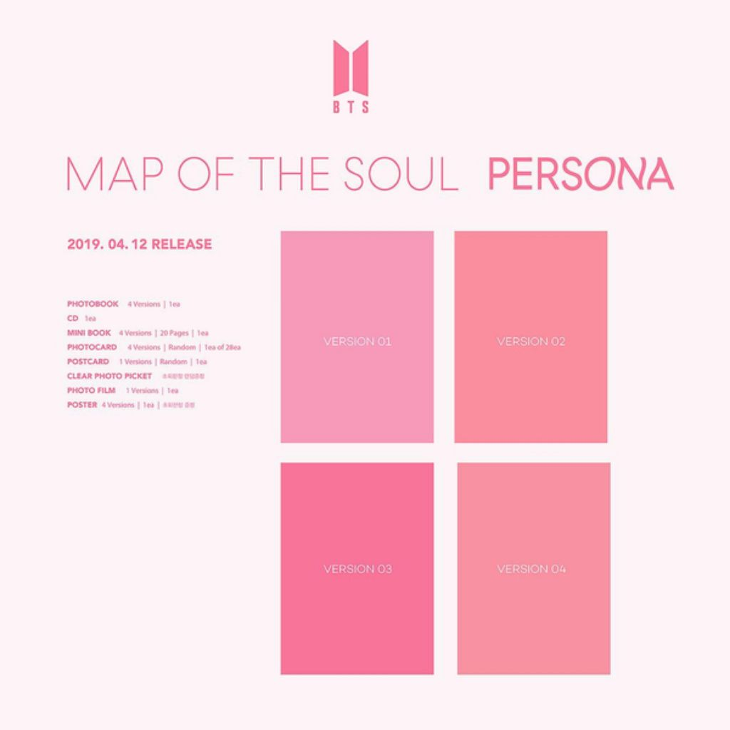 Bts Map Of The Soul:persona Bangtan Boys Album Cd+poster+photobook+postcard+film Music Memorabilia Cds