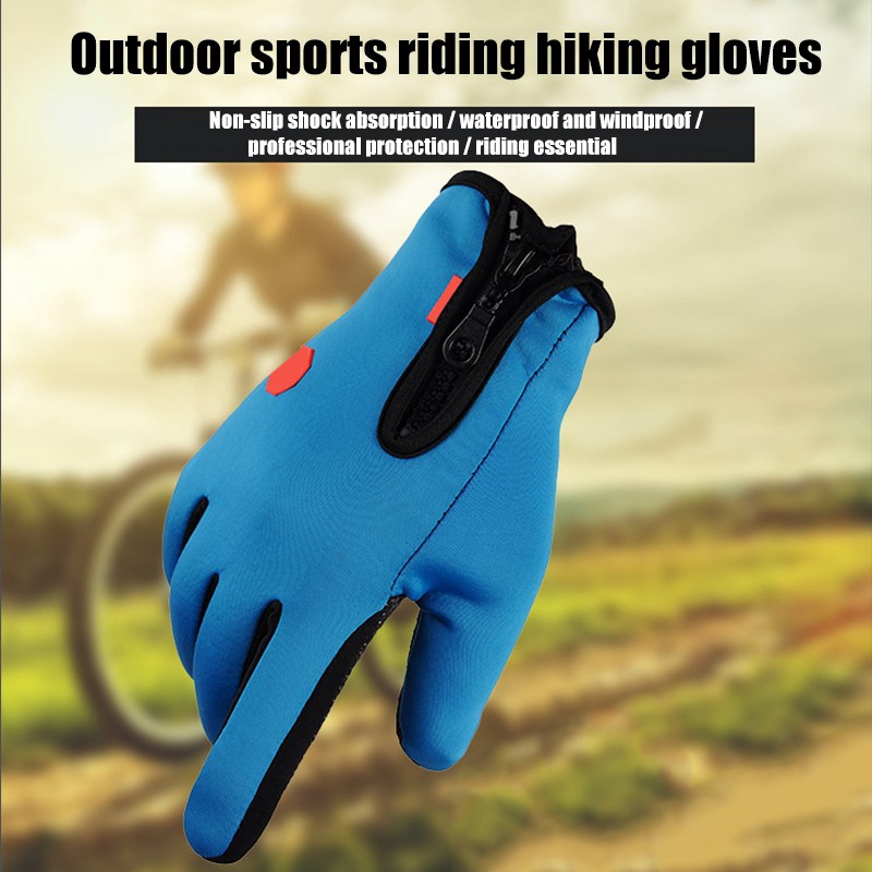 Winter Warm Thermal Full Finger Waterproof Touch Screen Gloves Cycling Anti-Skid