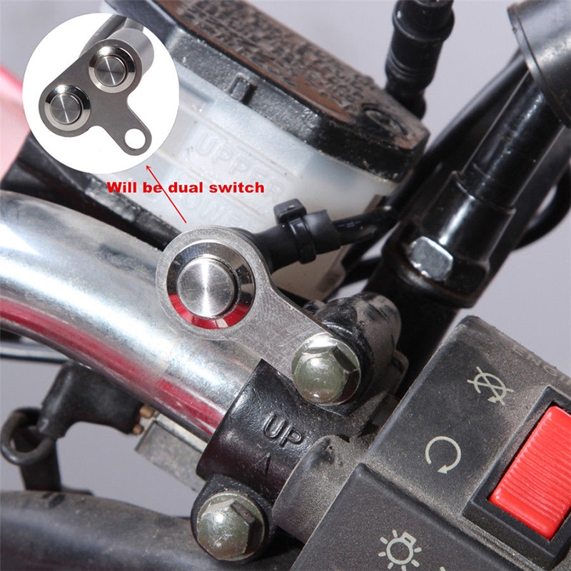 Dual Button Motorcycle Handlebar Switch Fit For Engine Horn Start Accessory IP65