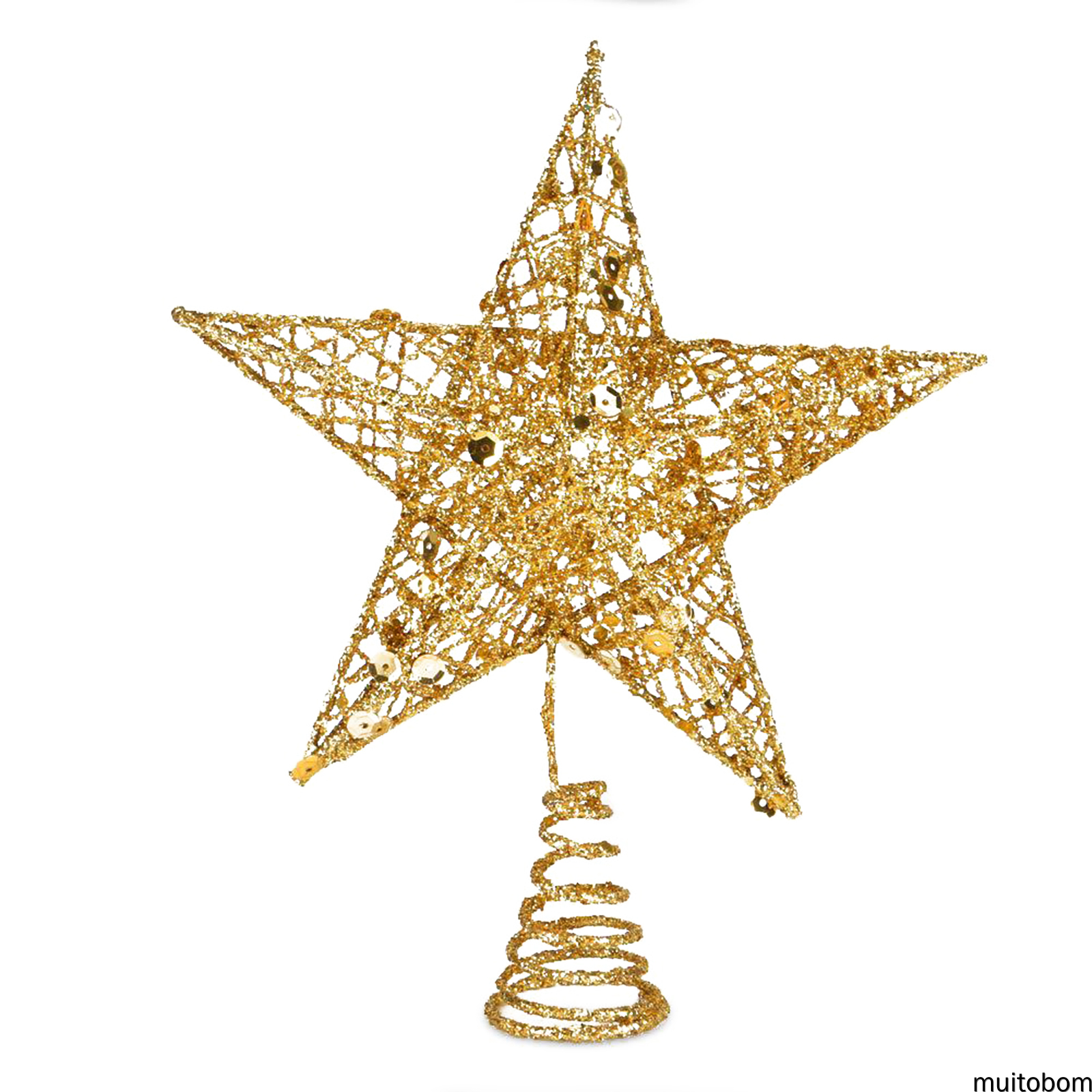 Muitobom Christmas Tree Topper Star With Colorful Glitter Tree Topper For Christmas Tree Decor 3 Sizes 6 Colors Rose Gold Pink Bule Red Golden Shopee Singapore