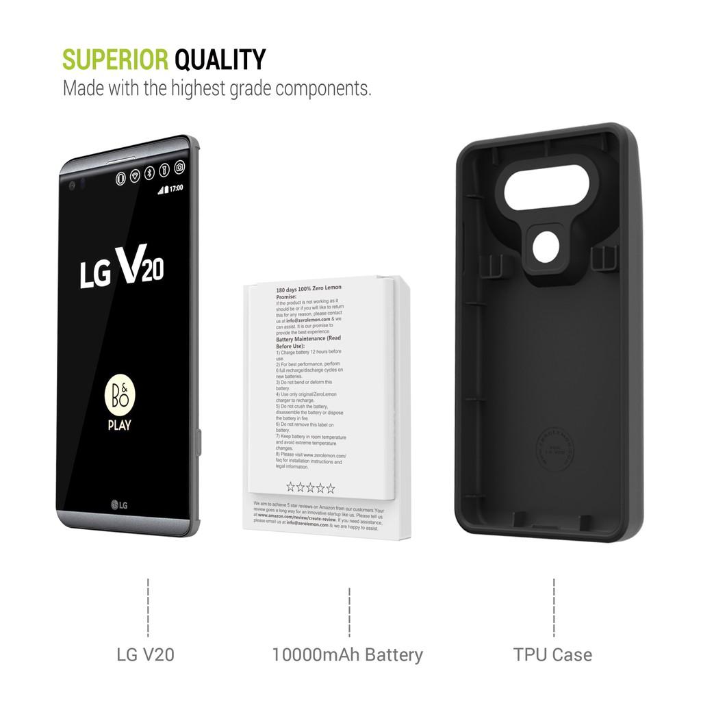 finest selection d146d ea913 ZeroLemon 10000mAh Battery Case for LG V20