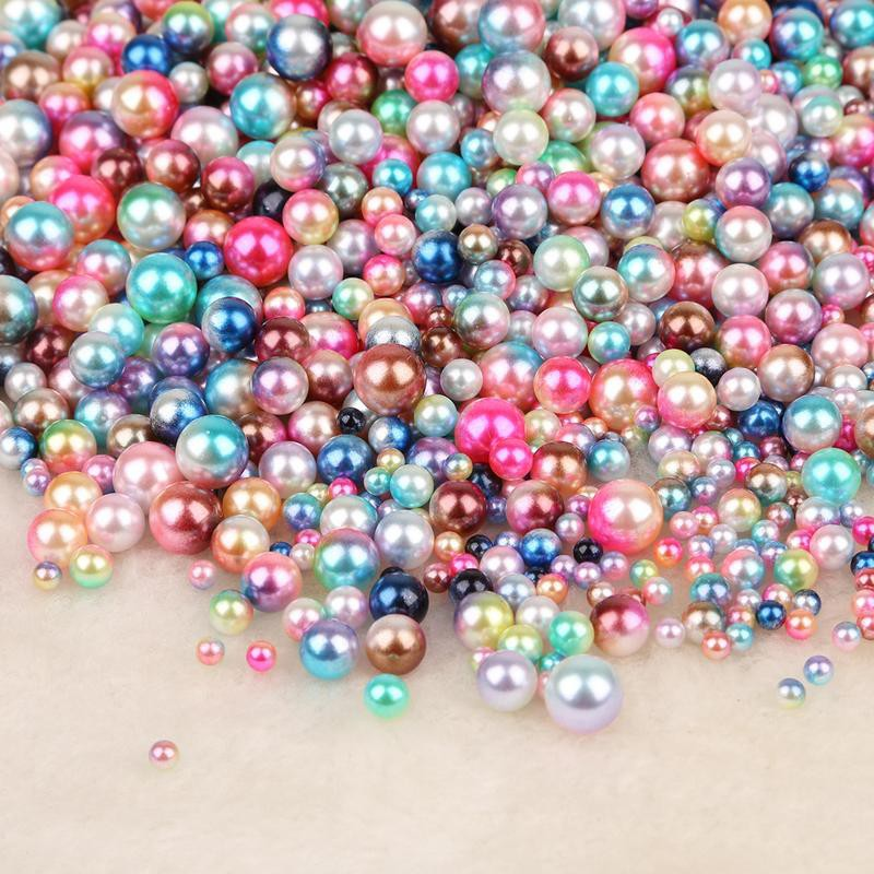 6mm 8mm 10mm Round Glass Loose Beads Glossy Faux Pearls DIY Jewelry Findings