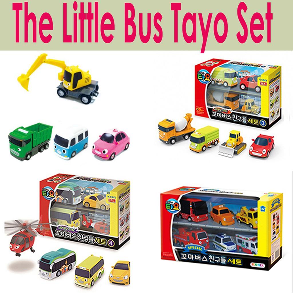 Little Bus Tayo Toy Gani Shopee Singapore Mainan Garasi 1 Set 4 Pcs