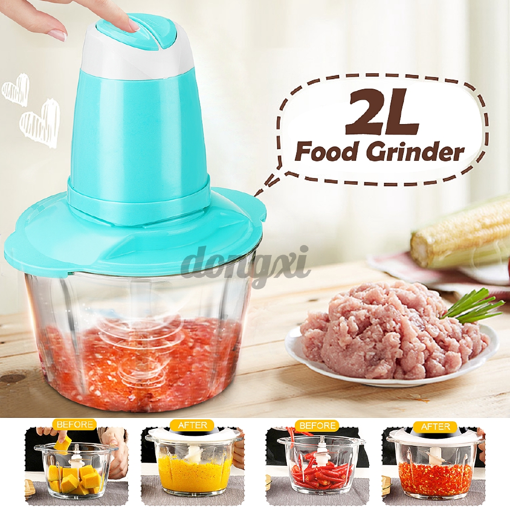 2L Electric Blender Food Chopper Vegetable Cutter Meat Grinder Processor Machine