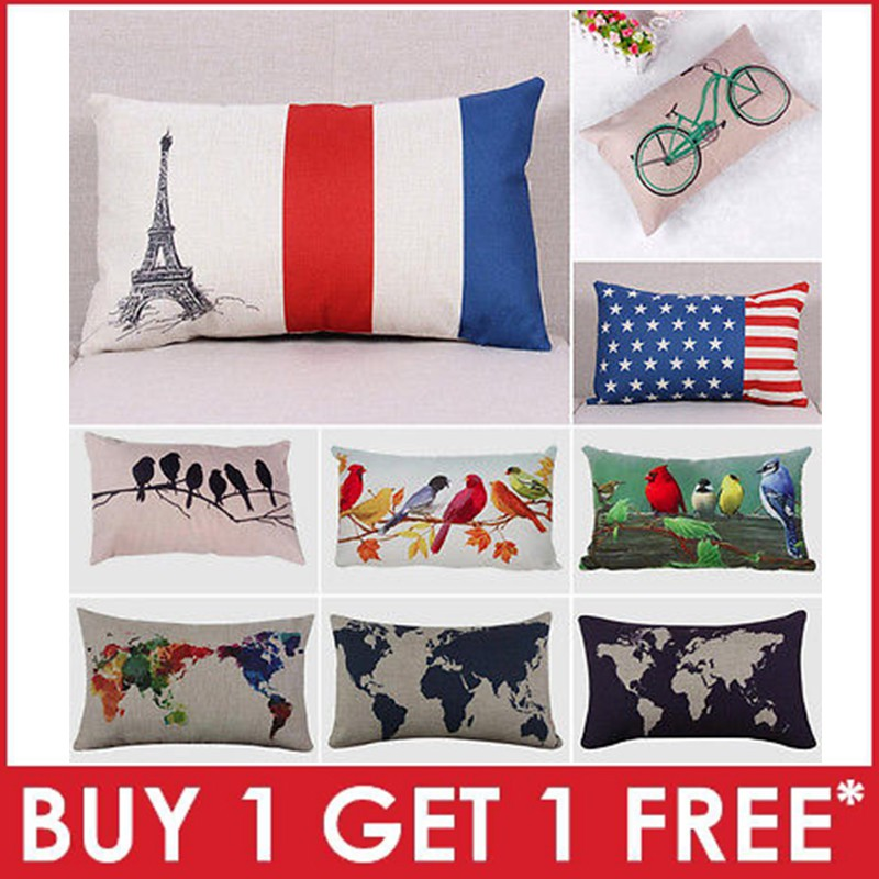 """Chinese old Blue and white Tree ANTIQUE Throw Pillow Case Cushion Cover 18/""""x45cm"""