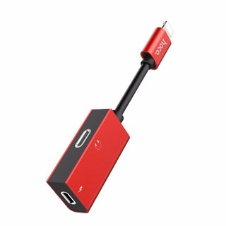 HOCO LS15 Linghtning Adapter Cable Dual Audio Jacks Charging
