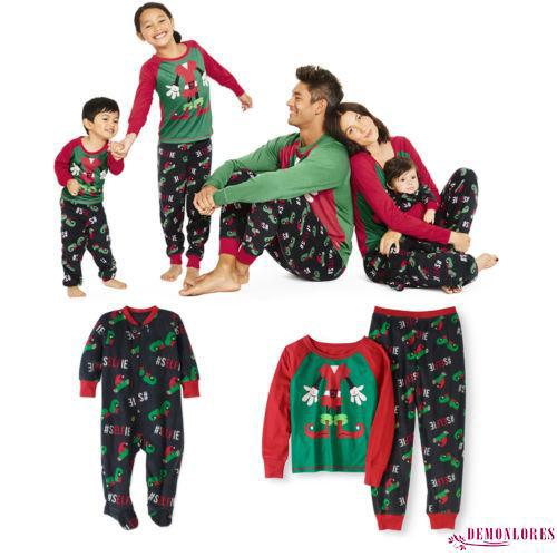 30102b0051 SOS-New Family Matching Kids Mom Dad Christmas Pajamas Set Sleepwear  Nightwear