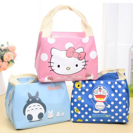 aa7660df9cf5 Cartoon Lunch Bag Picnic Camping Insulation Food Waterproof Lunch Bag