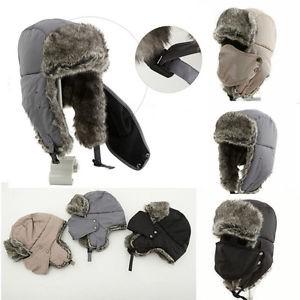 Unisex Men//Women Winter Trapper Aviator Warm Trooper Ear flap Ski Hat Mask HOT