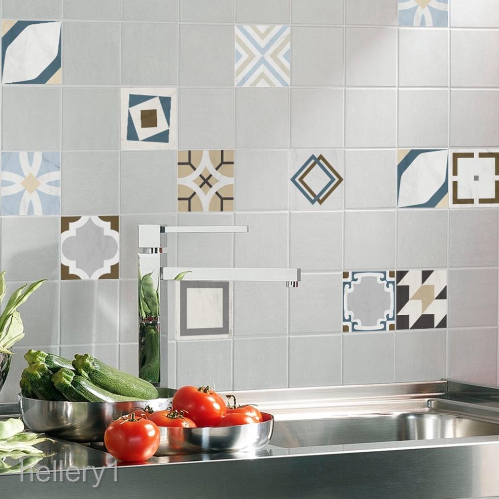 12 Pieces Retro Mosaic Wall Tiles
