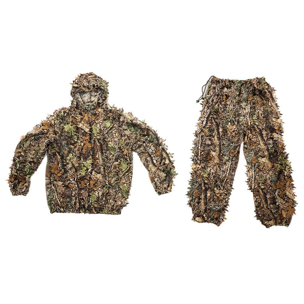5072a8dd55418 1 Pcs 3D Camouflage Leaf Clothing Hunting Camo Sniper Archery Ghillie Suit  Set | Shopee Singapore